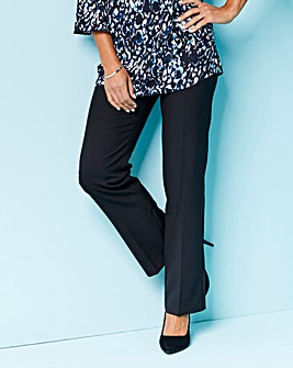 Mix & Match Black Straight Leg Trousers