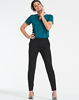 Mix & Match Black Tapered Leg Trousers
