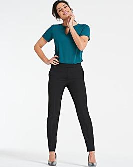 Mix & Match Black Tapered Leg Trousers