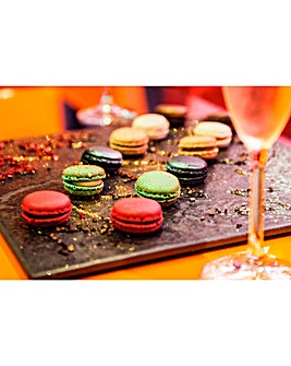 Champagne and Mini Macaroons for Two