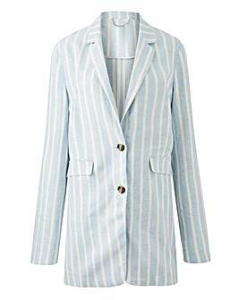 Linen Stripe Sloucy Blazer