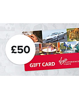 50 Pound Virgin Experience Day GiftCard