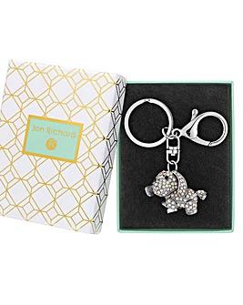 Jon Richard Dog Keyring - Gift Boxed