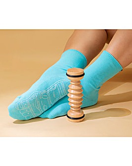 Calm Club Foot Work Reflexology Socks & Foot Massage Tool Set