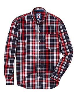Lambretta Lumber Charcoal Long Sleeved Shirt Long