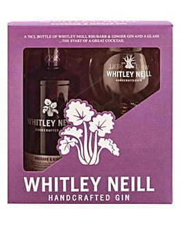 Whitley Neill Rhubarb & Ginger Gin Gift Pack