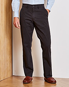 Black Regular Fit Stretch Chinos 35 Inch
