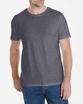 Charcoal Crew Neck T-shirt Long