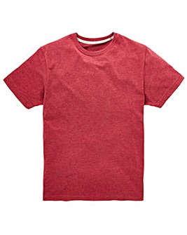 Capsule Crew Neck Red Marl T-shirt Long