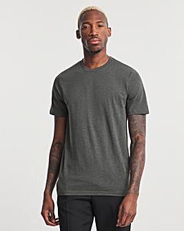 Charcoal Crew Neck T-shirt Long