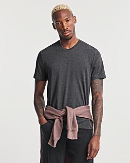 Charcoal V-Neck T-shirt Regular