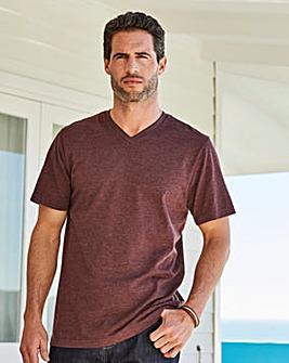 Capsule V-Neck Plum Marl T-shirt Long