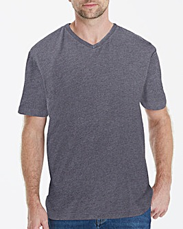 Charcoal V-Neck T-shirt Long