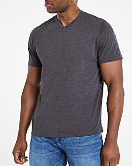 Charcoal V-Neck T-shirt Long