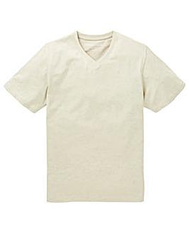 Capsule V-Neck Oatmeal T-shirt Long