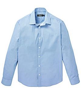 W&B London Blue Long Sleeve Printed Formal Shirt Regular