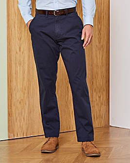 Navy Stretch Chinos 33in