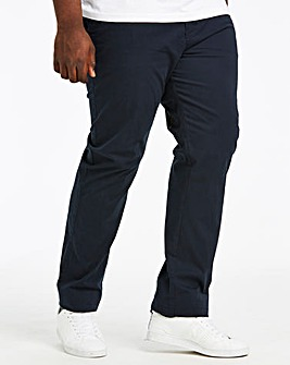 Navy Regular Fit Stretch Chinos 29 Inch