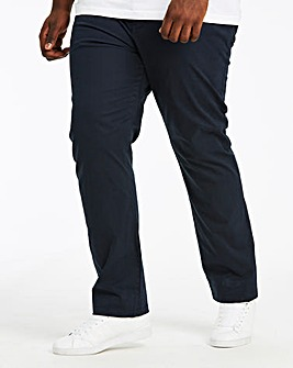 Navy Regular Fit Stretch Chinos 31 Inch