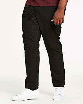 Black Regular Fit Stretch Chinos 31 Inch