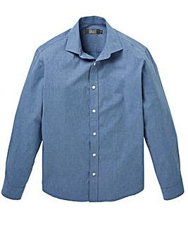WILLIAMS & BROWN LONDON Long Sleeve Chambray Shirt Regular
