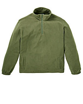 Capsule Khaki Basic Zip Neck Fleece R