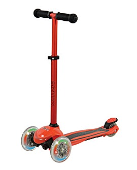 U Move Mini Compact Tilt Scooter with Led Wheels - Red