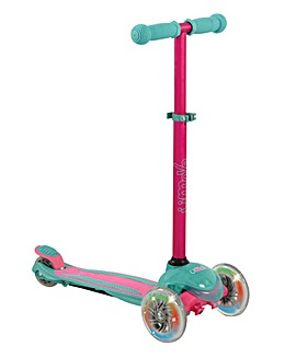 U Move Mini Compact Tilt Scooter with Led Wheels - Pink