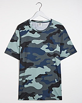 Hype Blue Camo T-Shirt Long