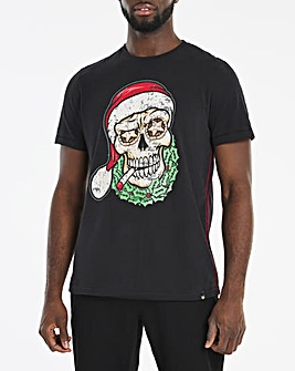 Joe Browns Christmas Skull T-Shirt
