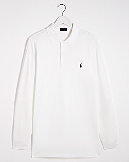 Polo Ralph Lauren White Classic Long Sleeve Polo