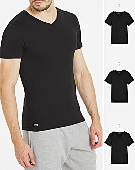Lacoste Three Pack V Neck T-Shirt