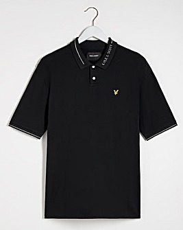 Lyle & Scott Branded Collar Polo