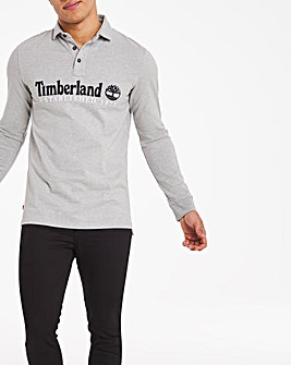 Timberland Long Sleeve Embroidered Logo Polo