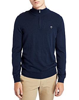 Timberland Merino Wool Half Zip Jumper
