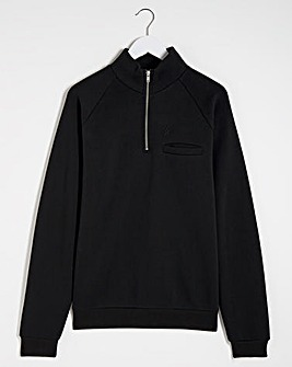 Hype Black Docker 1/4 Zip Sweatshirt