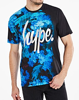 Hype Foil Script Ocean T-Shirt