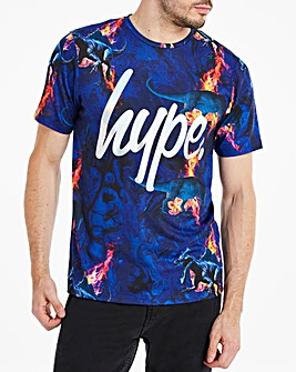 Hype Foil Script Fire T-Shirt