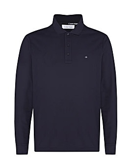 Calvin Klein Long Sleeve Pique Polo