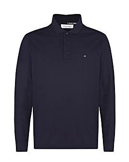 Calvin Klein Long Sleeve Pique Polo