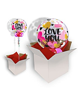 Love You Hearts Valentine Balloon