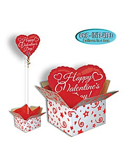 Valentine Day Script Balloon In A Box