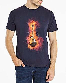Joe Browns Flaming Guitar T-Shirt