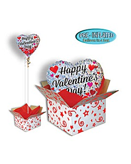 Happy Valentines Day Balloon In A Box