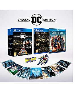 DC Franchise Pack Game and Blu Ray PS4
