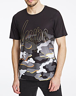 Hype Camo Fade T-Shirt Long