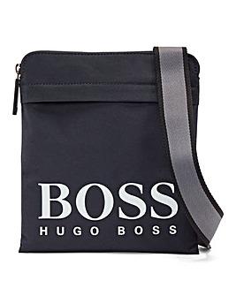 BOSS Logo Zip Front Cross Body Bag