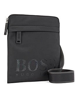 BOSS Logo Zip Front Cross Body Bag