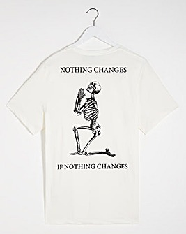 Religion No Changes Back Print T-Shirt