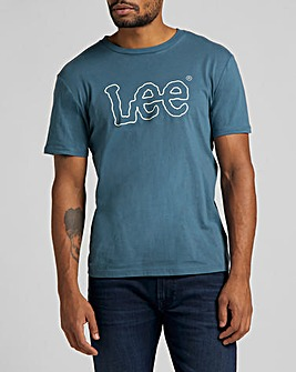 LEE Teal Wobbly Logo T-Shirt